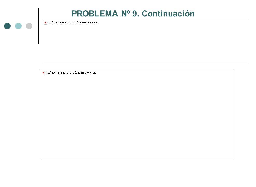 PROBLEMA Nº 9. Continuación