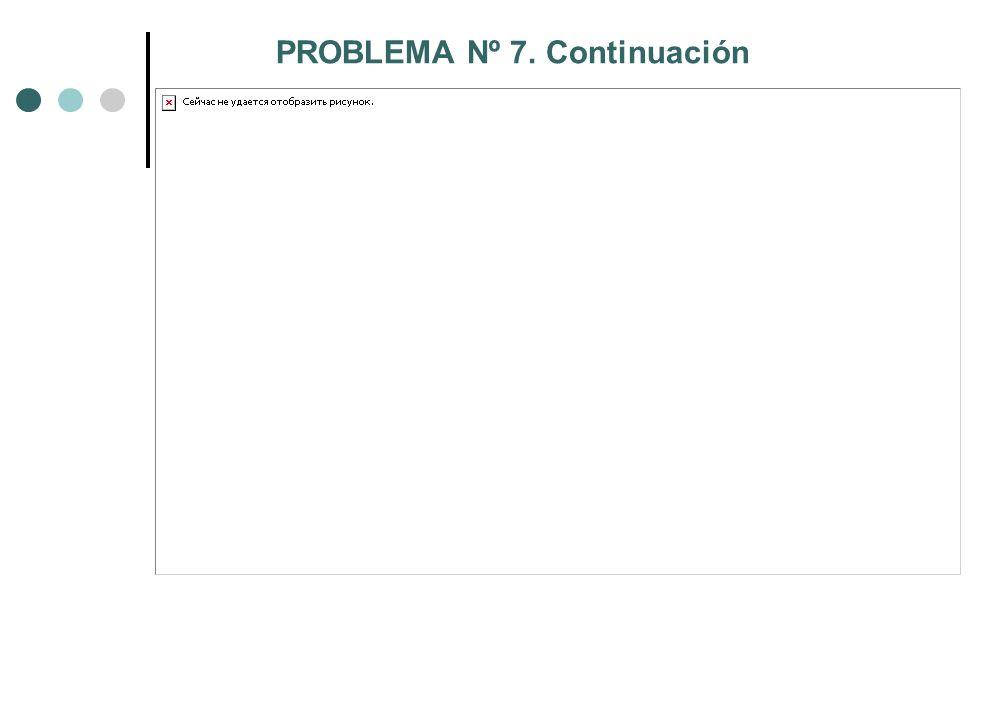 PROBLEMA Nº 7. Continuación