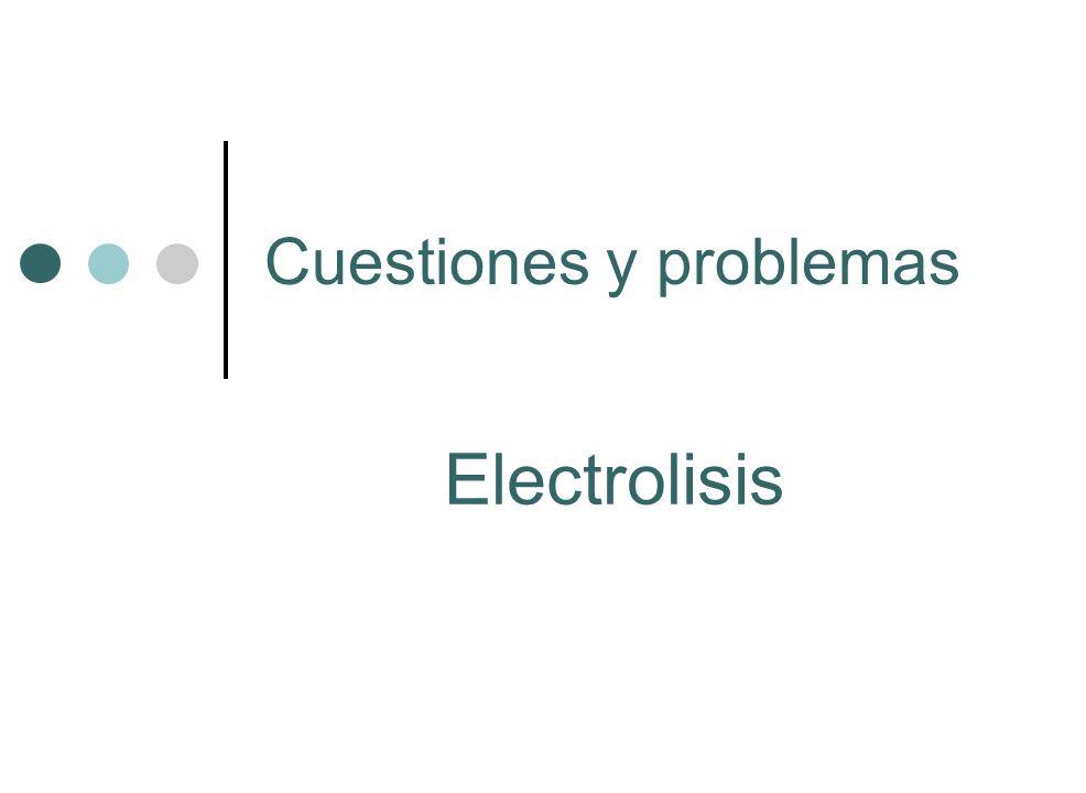 Cuestiones y problemas