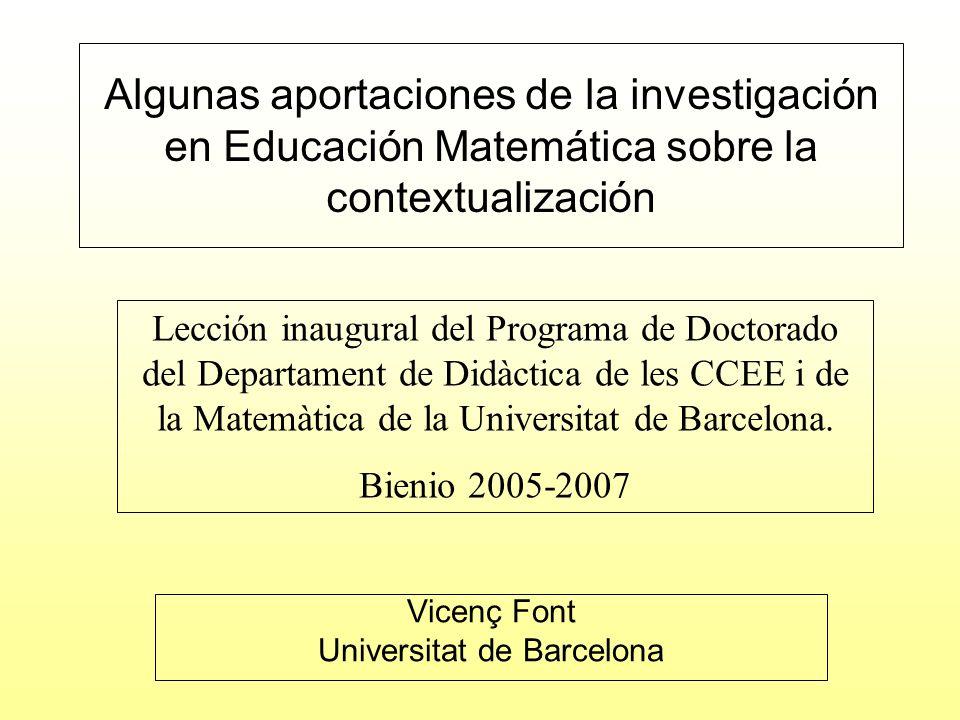 Vicenç Font Universitat de Barcelona
