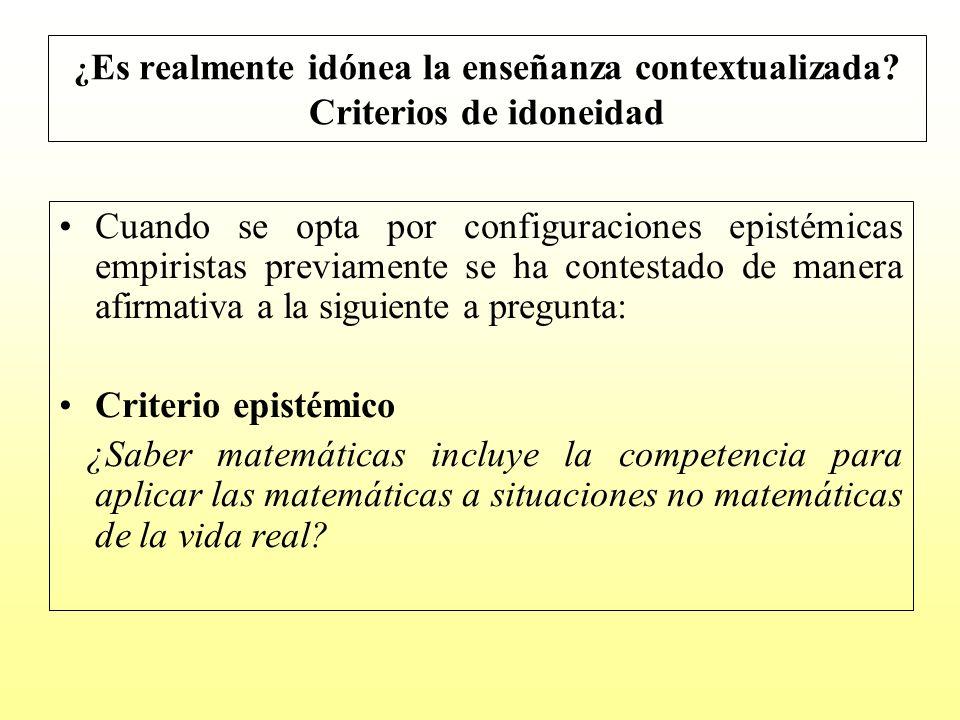 ¿Es realmente idónea la enseñanza contextualizada