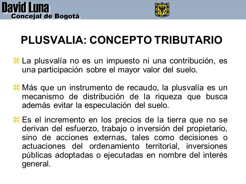 PLUSVALIA: CONCEPTO TRIBUTARIO
