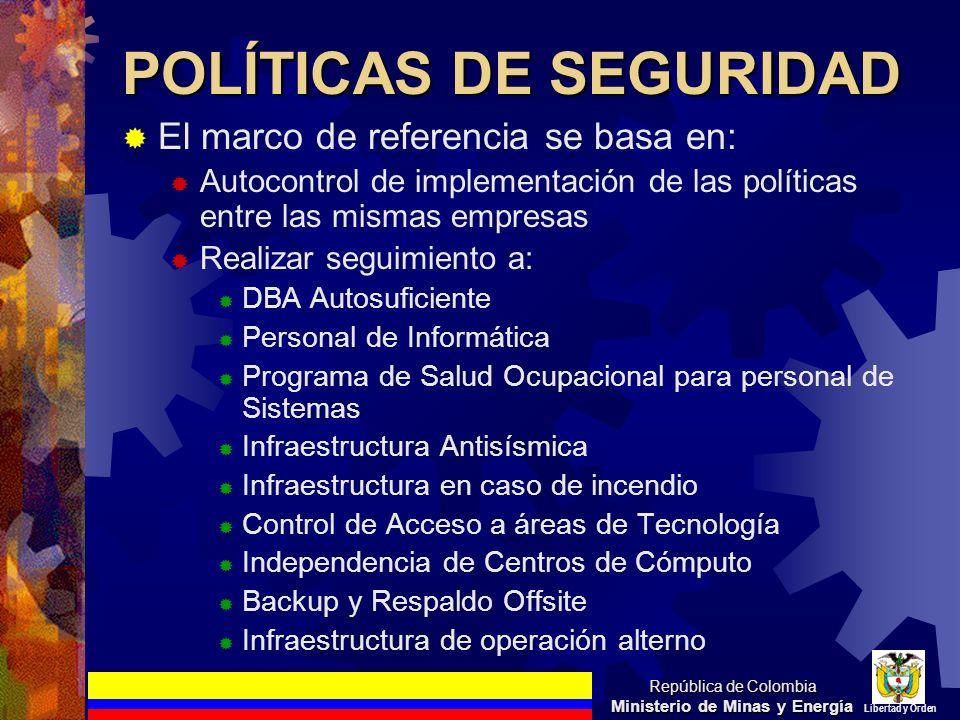 POLÍTICAS DE SEGURIDAD
