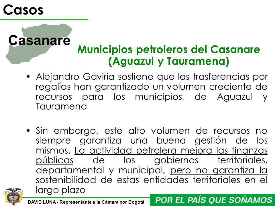 Municipios petroleros del Casanare (Aguazul y Tauramena)