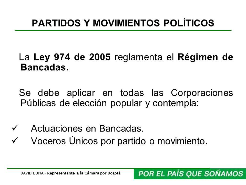 PARTIDOS Y MOVIMIENTOS POLÍTICOS