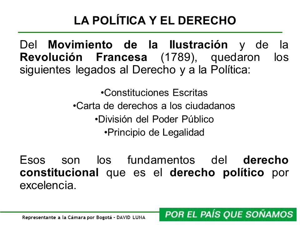 Representante a la Cámara por Bogotá – DAVID LUNA