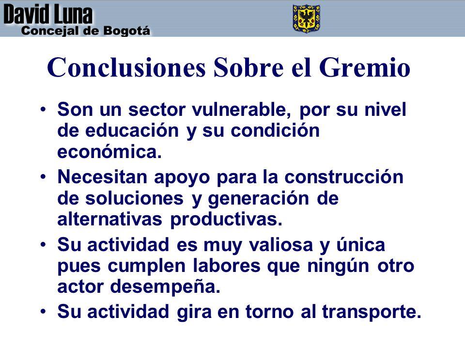 Conclusiones Sobre el Gremio
