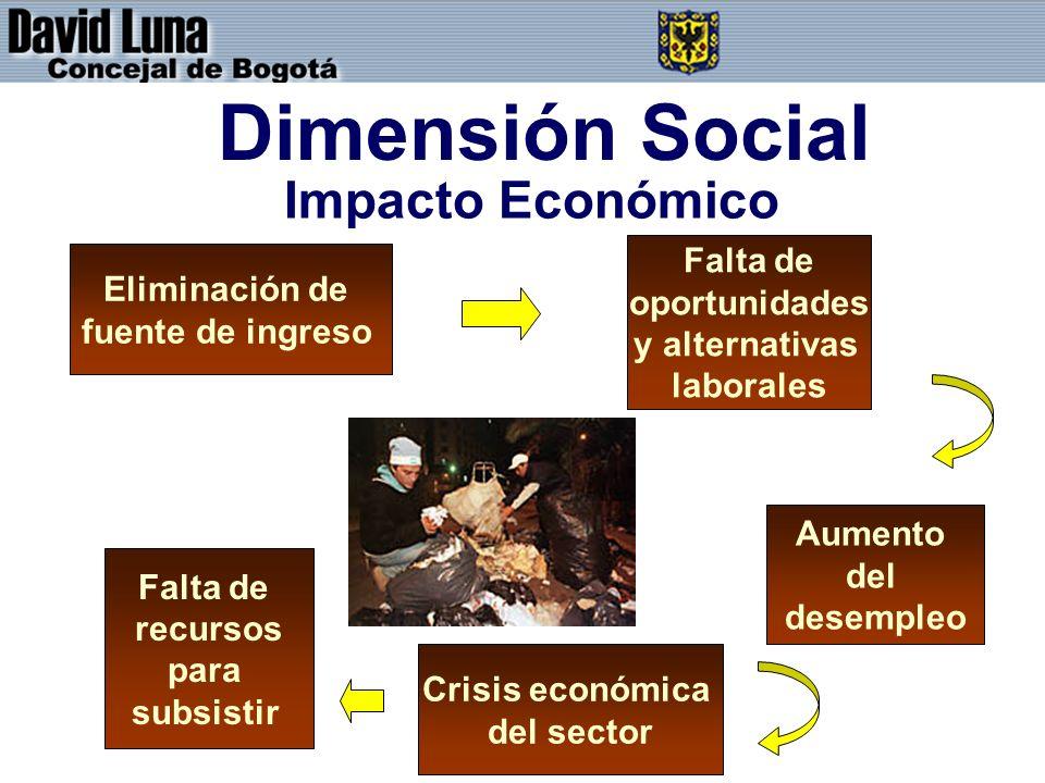 Dimensión Social Impacto Económico Falta de Eliminación de