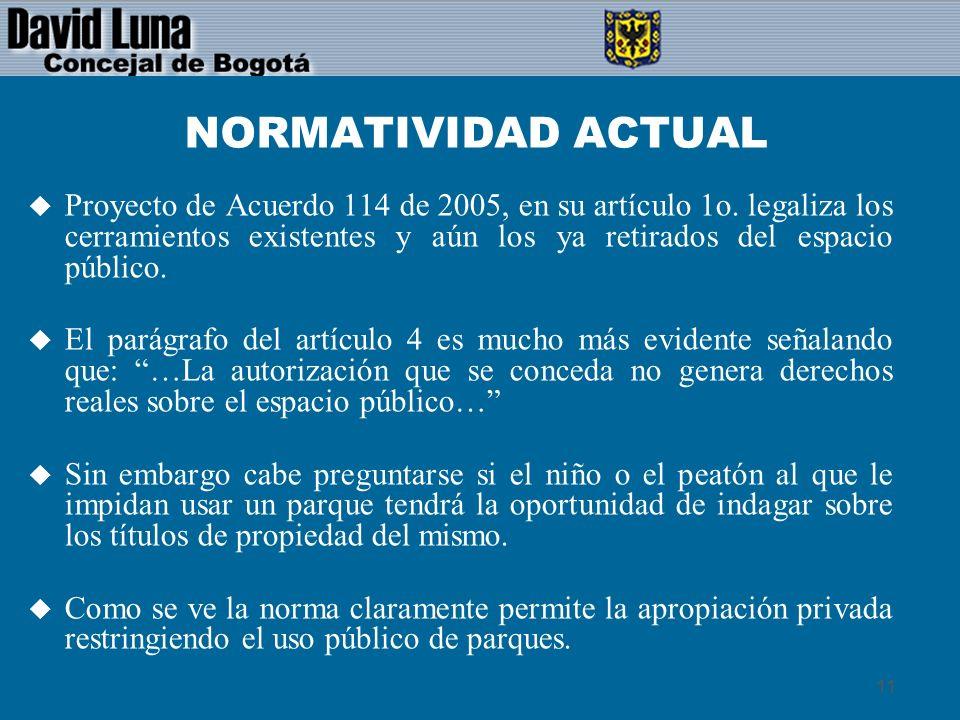 NORMATIVIDAD ACTUAL