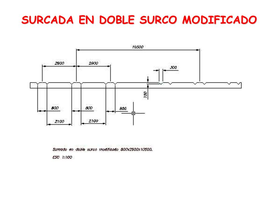 SURCADA EN DOBLE SURCO MODIFICADO