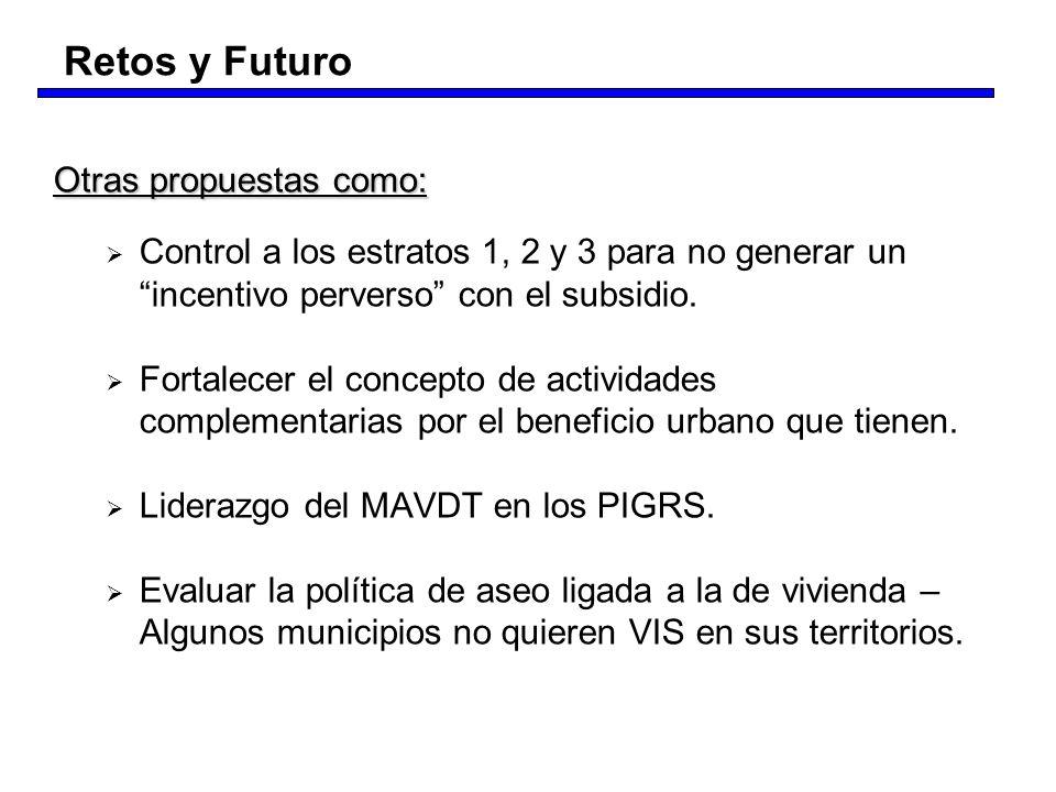 Retos y Futuro Otras propuestas como: