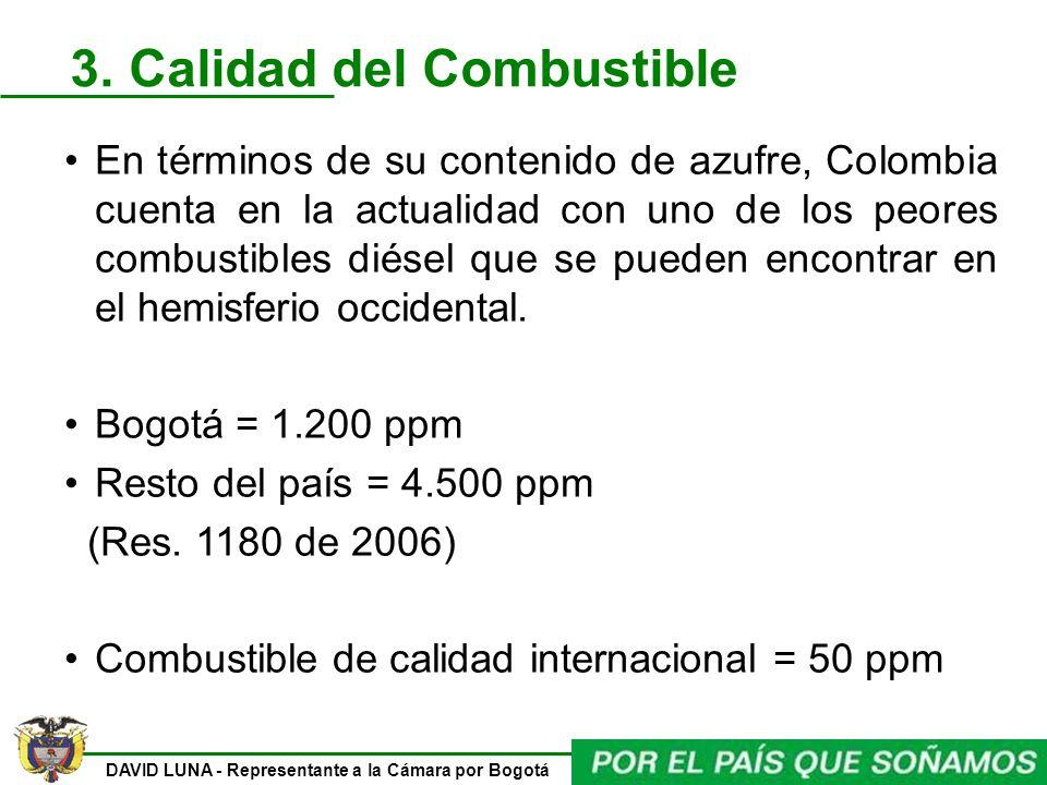 3. Calidad del Combustible