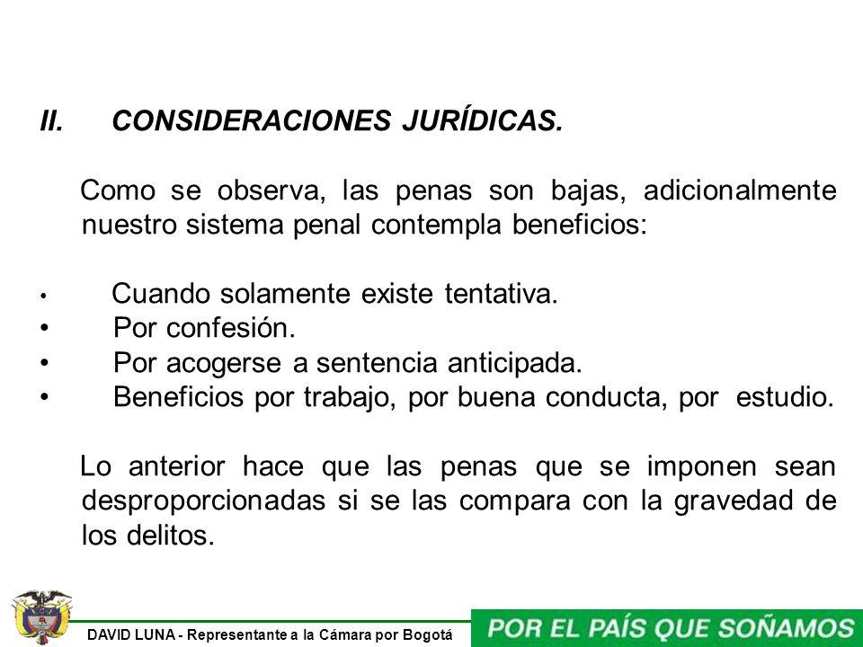 II. CONSIDERACIONES JURÍDICAS.