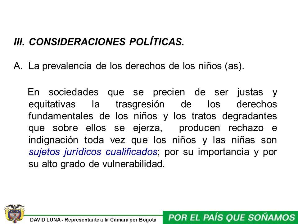 CONSIDERACIONES POLÍTICAS.