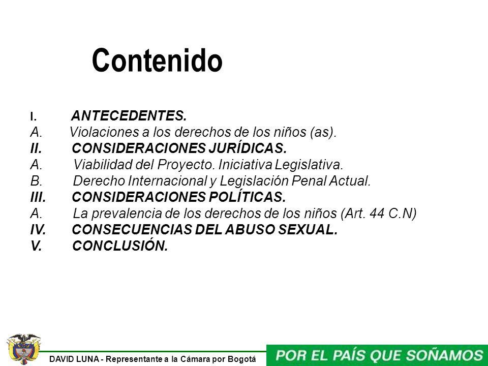 Contenido A. Violaciones a los derechos de los niños (as).