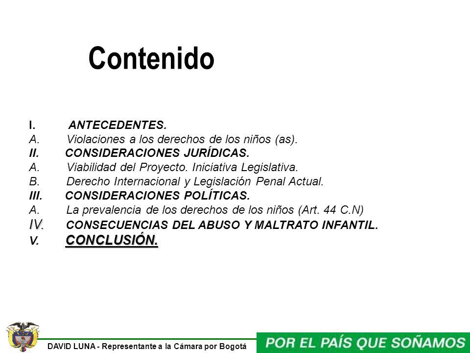 Contenido IV. CONSECUENCIAS DEL ABUSO Y MALTRATO INFANTIL.