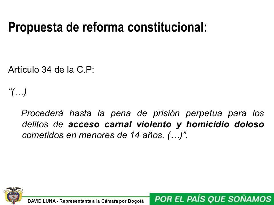 Propuesta de reforma constitucional: