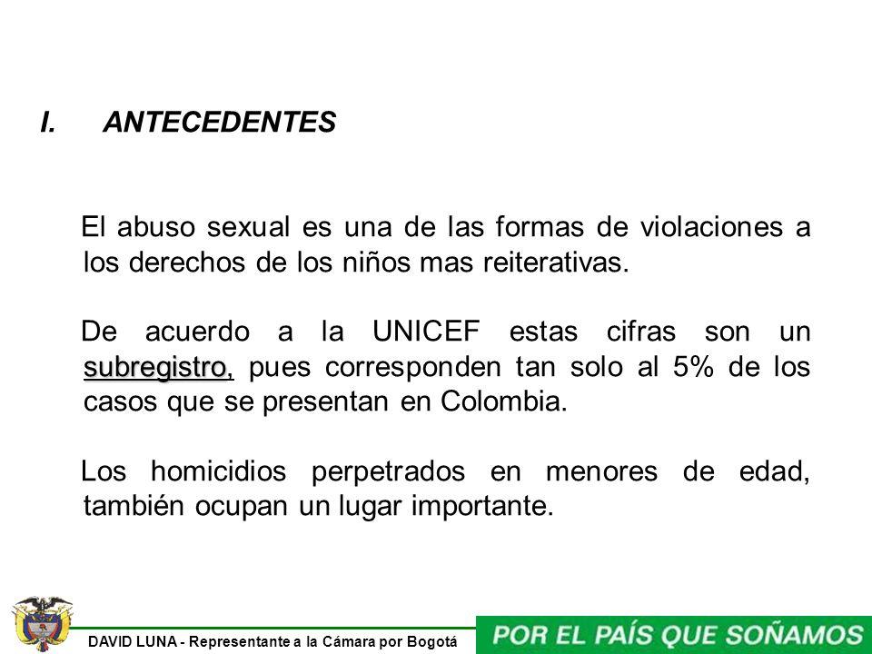 I. ANTECEDENTES El abuso sexual es una de las formas de violaciones a los derechos de los niños mas reiterativas.