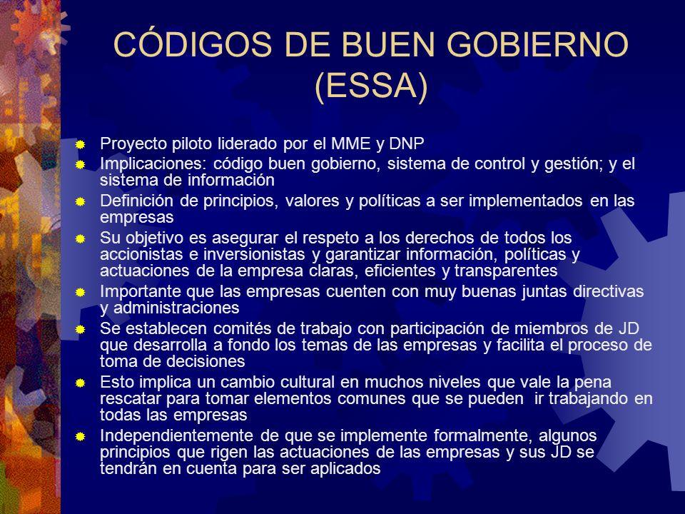 CÓDIGOS DE BUEN GOBIERNO (ESSA)