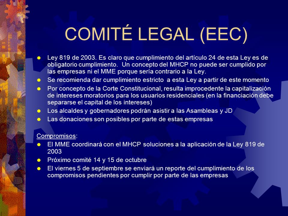 COMITÉ LEGAL (EEC)