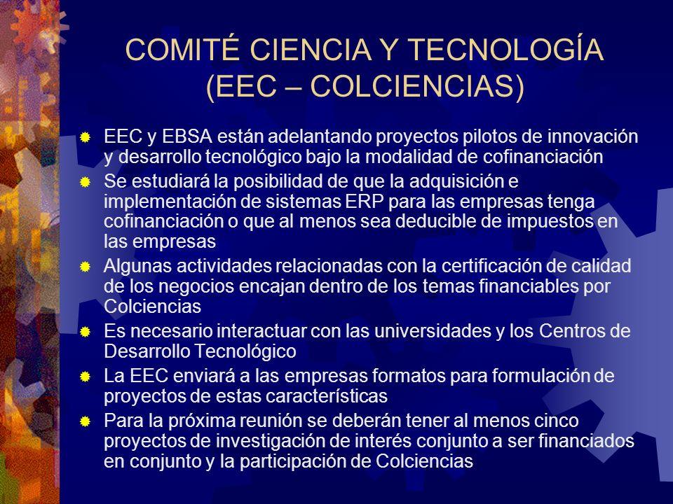 COMITÉ CIENCIA Y TECNOLOGÍA (EEC – COLCIENCIAS)