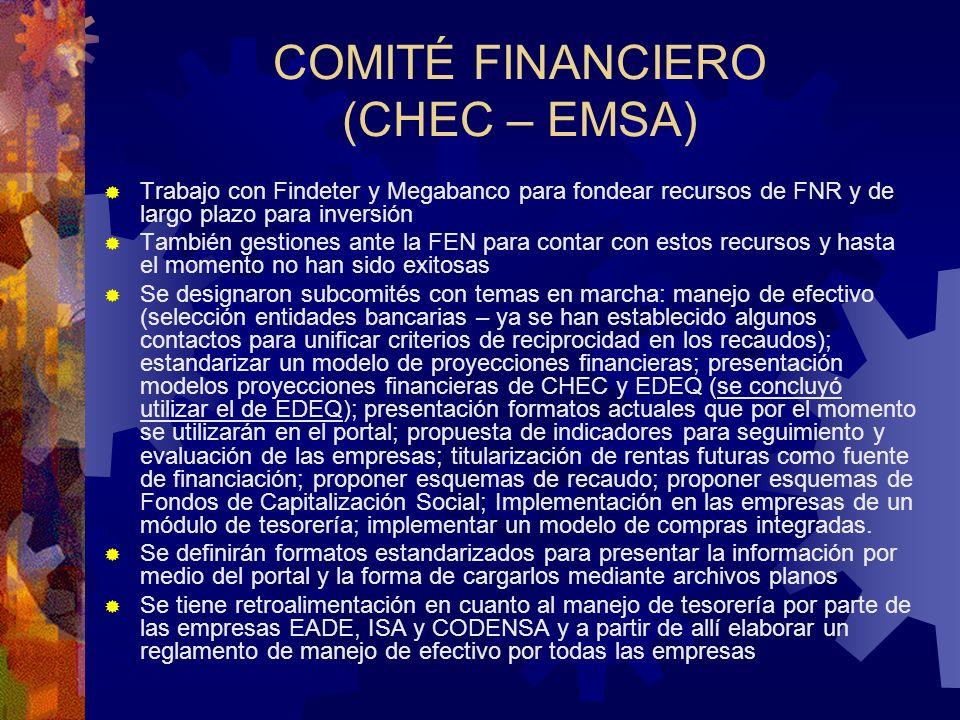 COMITÉ FINANCIERO (CHEC – EMSA)