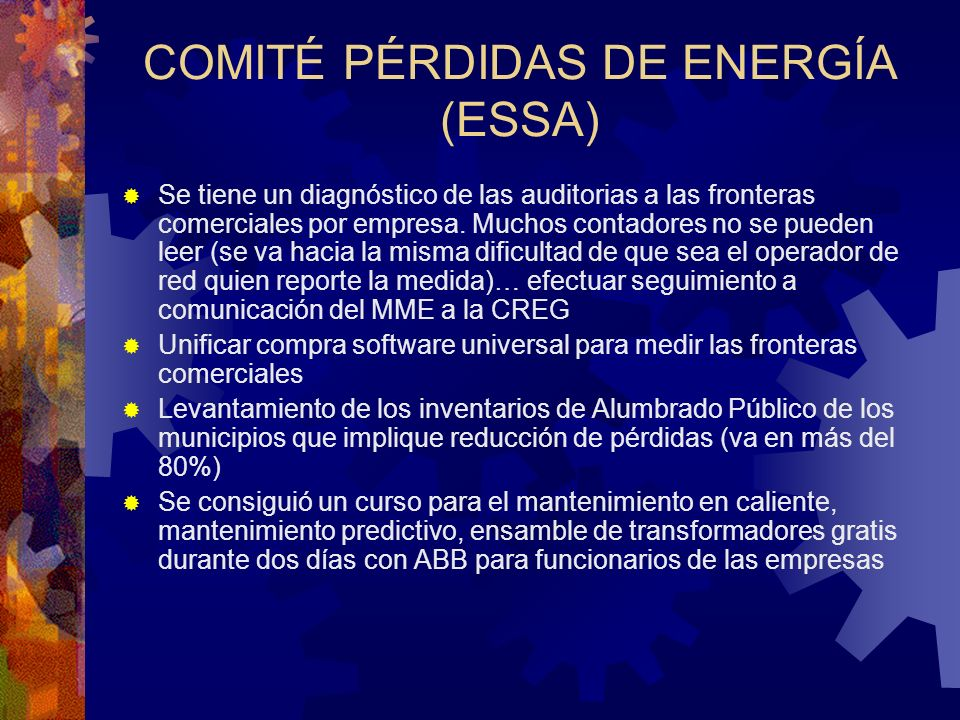 COMITÉ PÉRDIDAS DE ENERGÍA (ESSA)