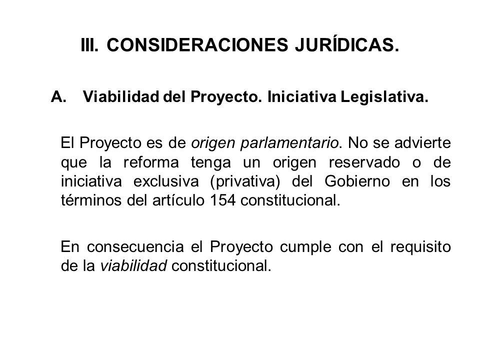 III. CONSIDERACIONES JURÍDICAS.