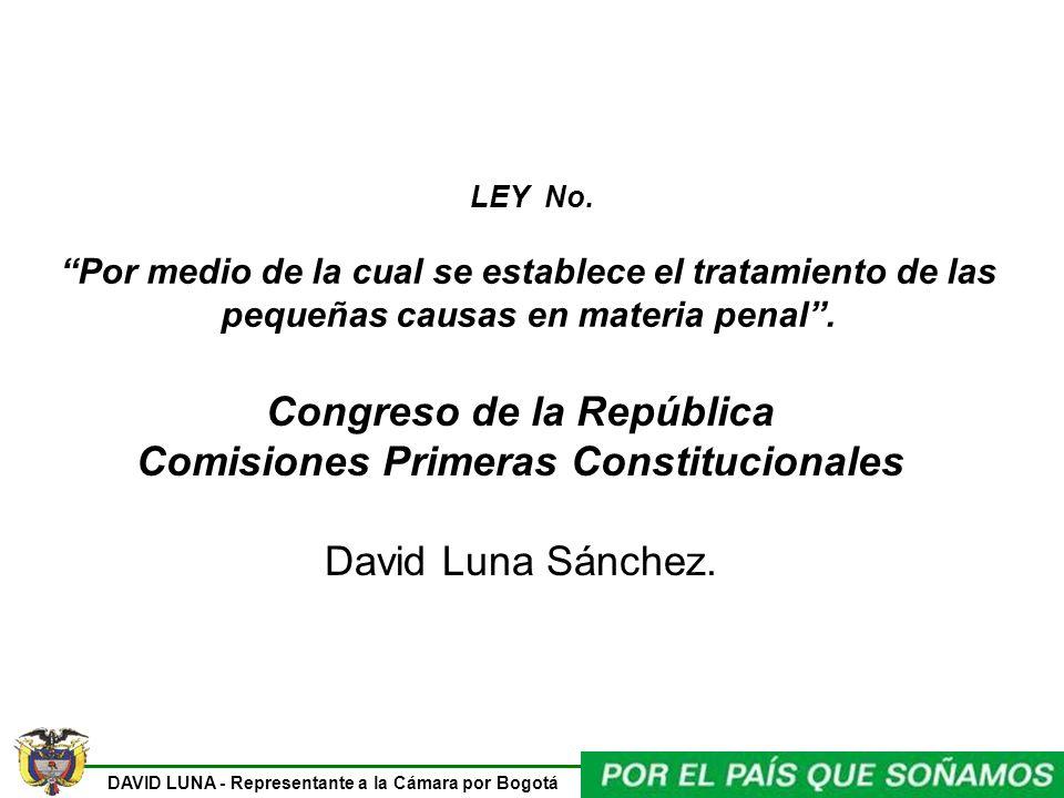 Congreso de la República Comisiones Primeras Constitucionales