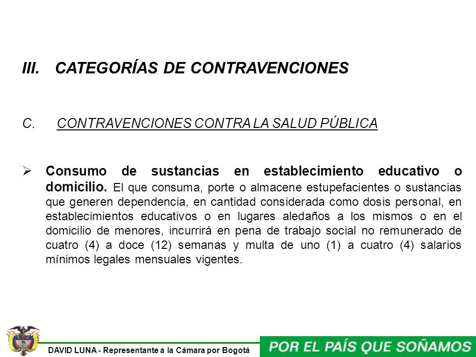 CATEGORÍAS DE CONTRAVENCIONES