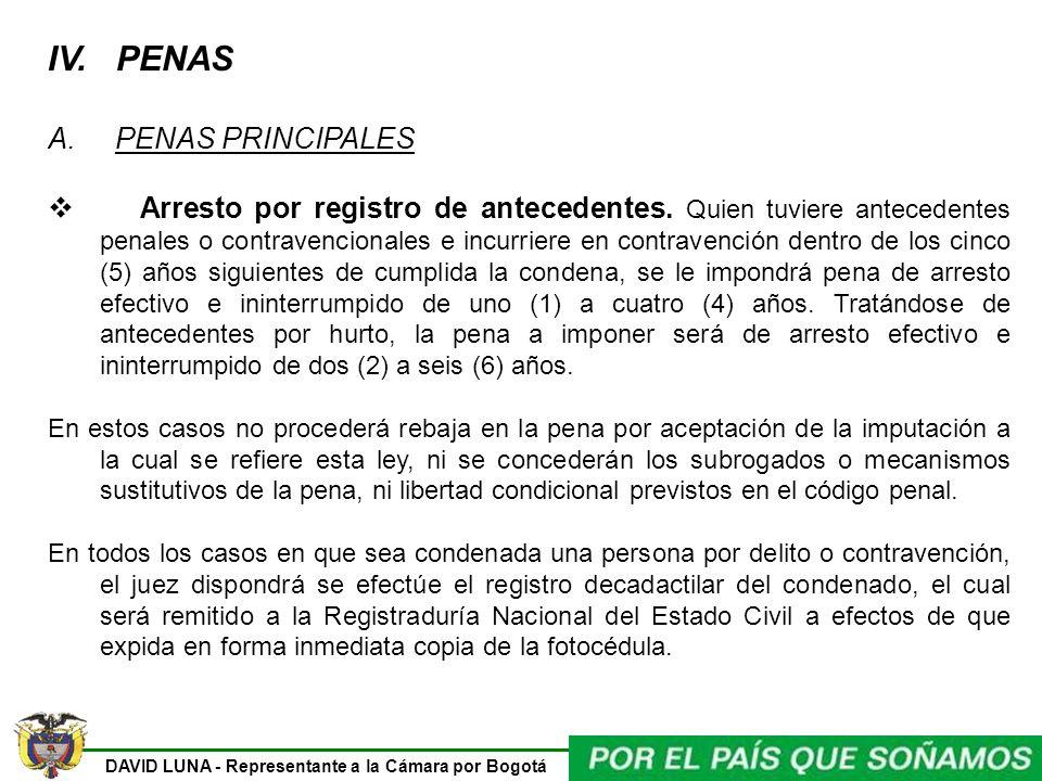 IV. PENAS A. PENAS PRINCIPALES