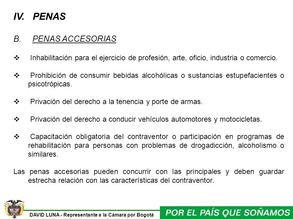 IV. PENAS B. PENAS ACCESORIAS