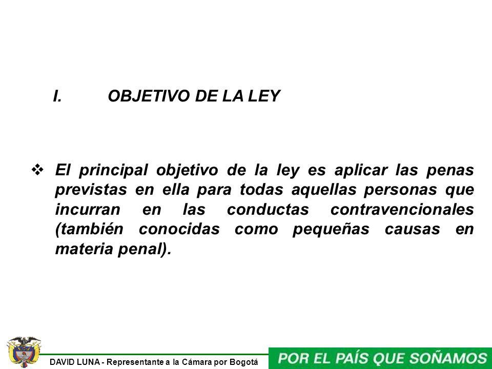 I. OBJETIVO DE LA LEY