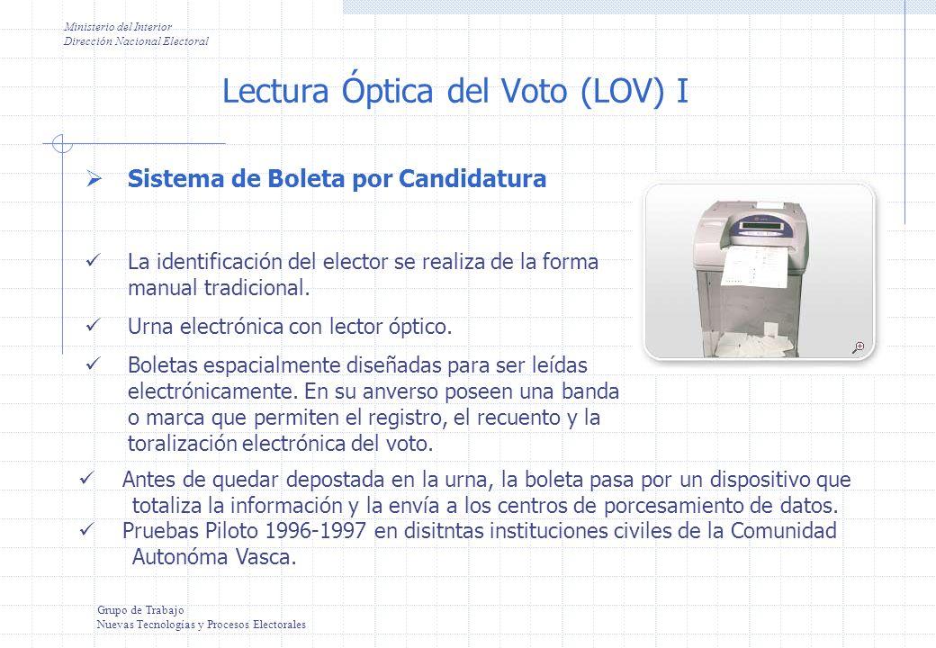 Lectura Óptica del Voto (LOV) I
