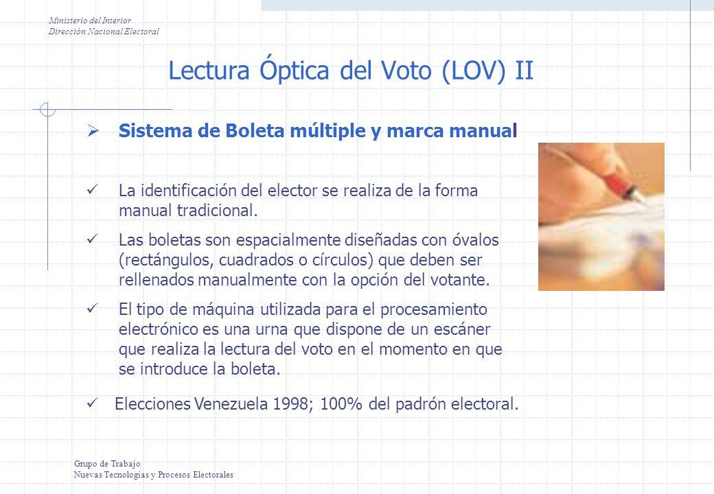 Lectura Óptica del Voto (LOV) II