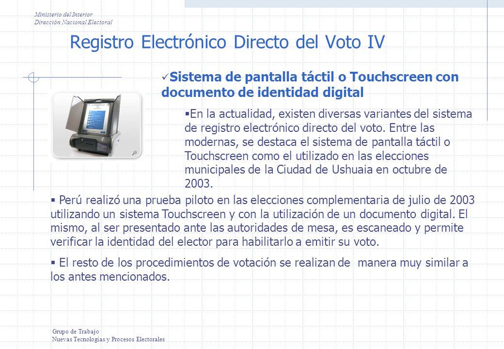 Registro Electrónico Directo del Voto IV
