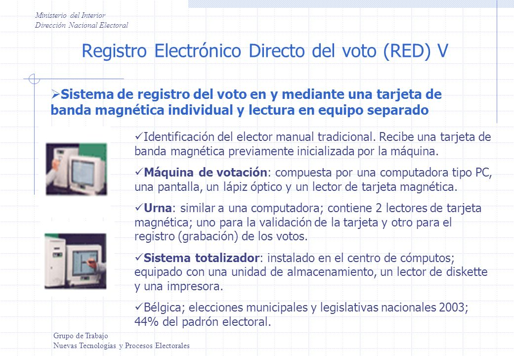 Registro Electrónico Directo del voto (RED) V