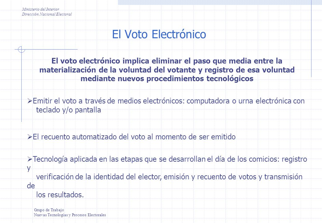 Sistemas electronicos de votacion ppt video online descargar for Ministerio de interior direccion