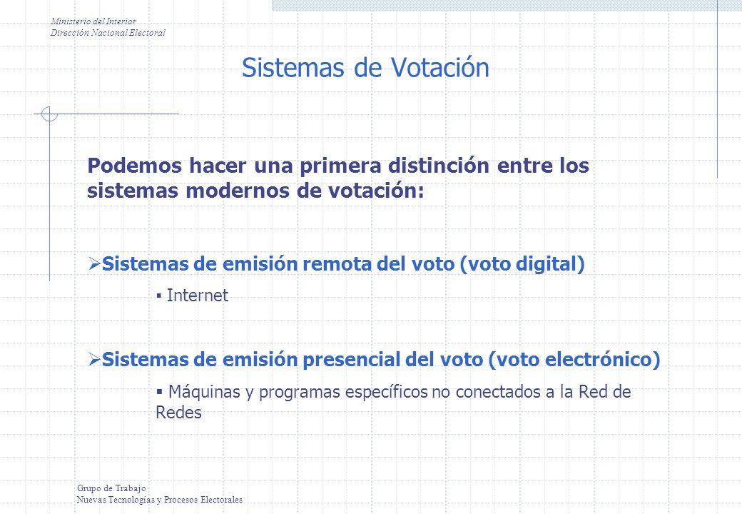 Grupo de Trabajo Voto Electrónico