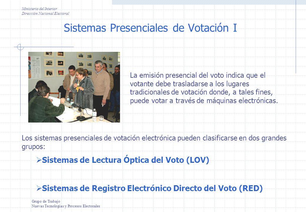 Sistemas Presenciales de Votación I