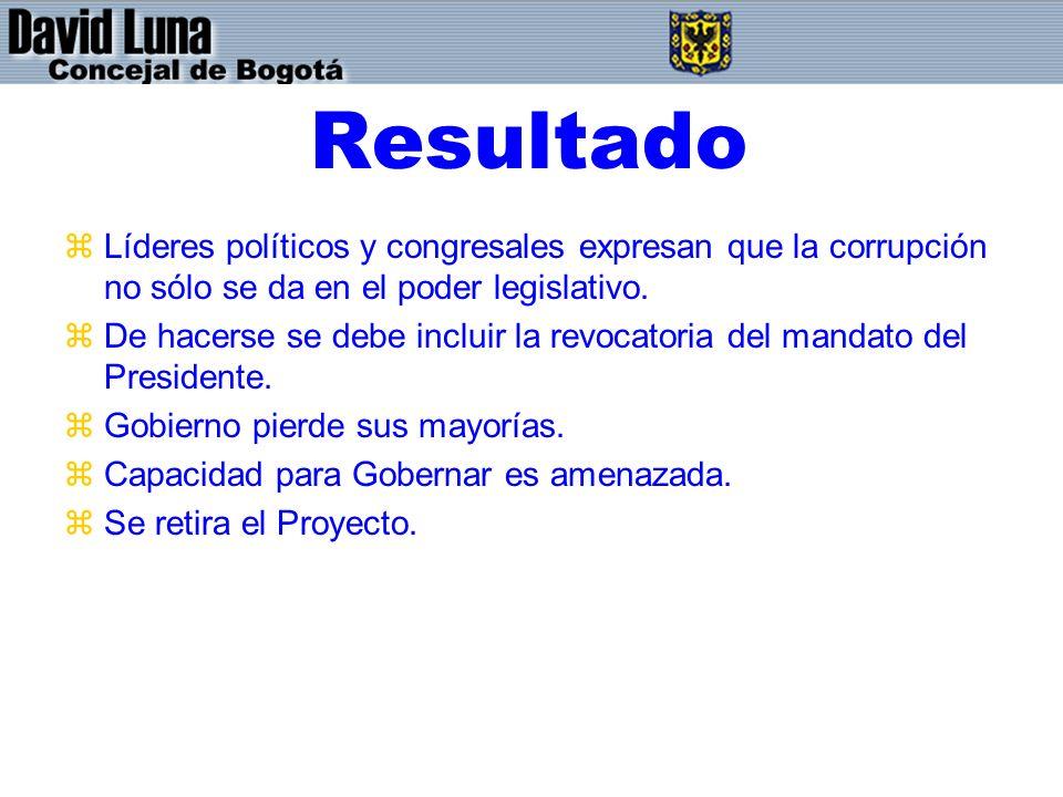Resultado Líderes políticos y congresales expresan que la corrupción no sólo se da en el poder legislativo.