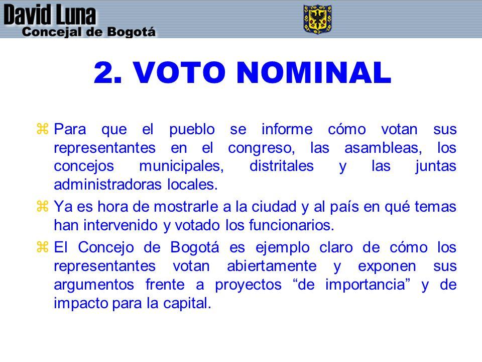 2. VOTO NOMINAL