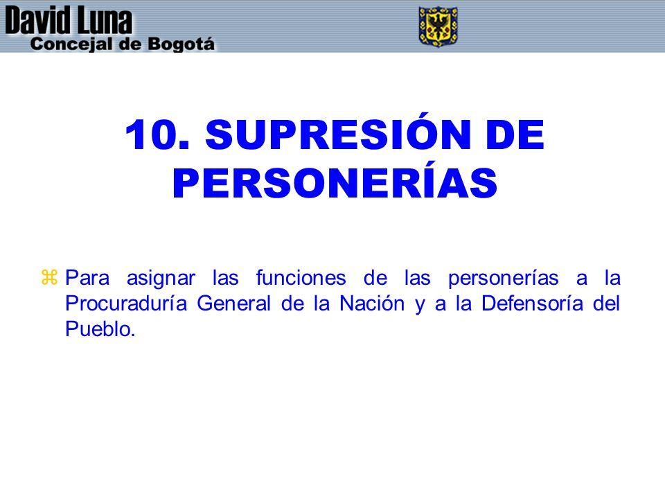 10. SUPRESIÓN DE PERSONERÍAS