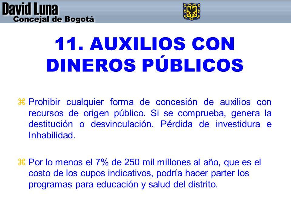 11. AUXILIOS CON DINEROS PÚBLICOS