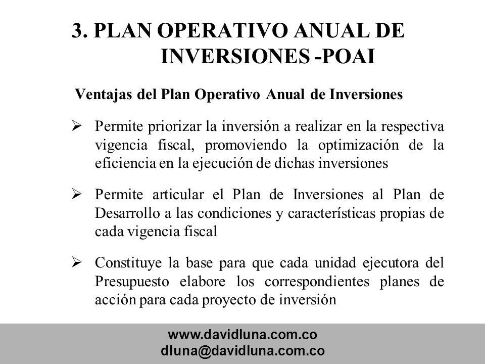 3. PLAN OPERATIVO ANUAL DE INVERSIONES -POAI