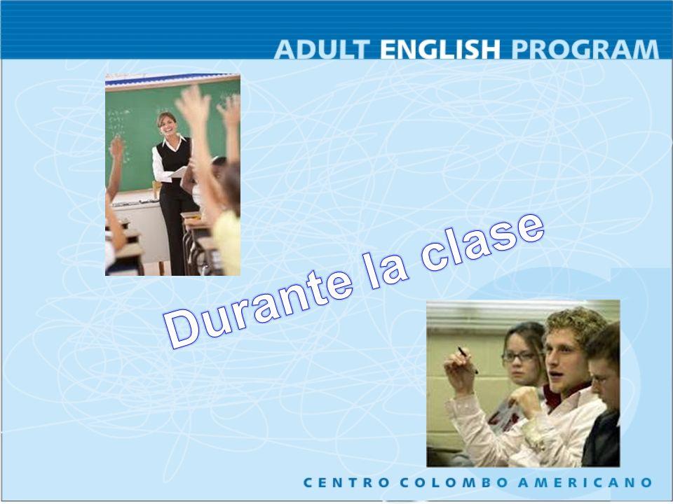 Durante la clase