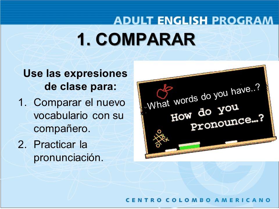 Use las expresiones de clase para: