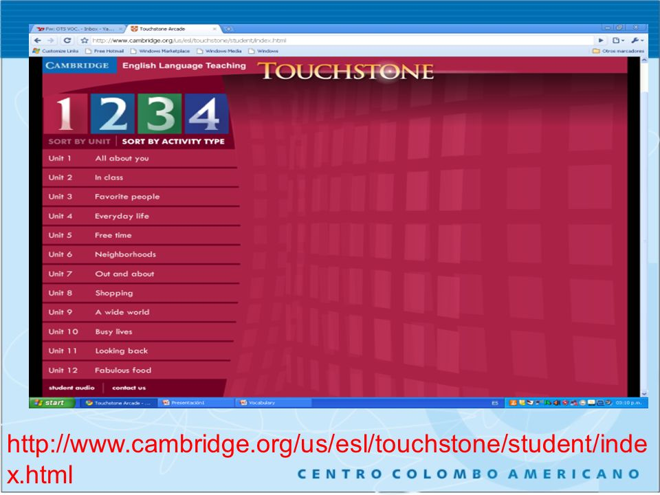 http://www.cambridge.org/us/esl/touchstone/student/index.html
