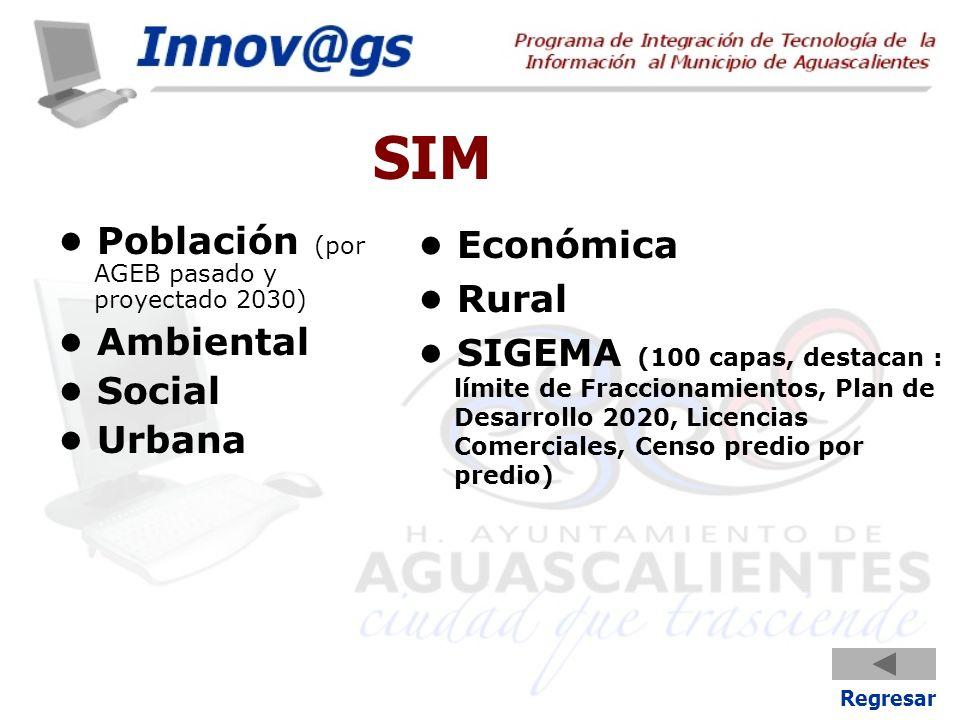 SIM • Población (por AGEB pasado y proyectado 2030) • Ambiental