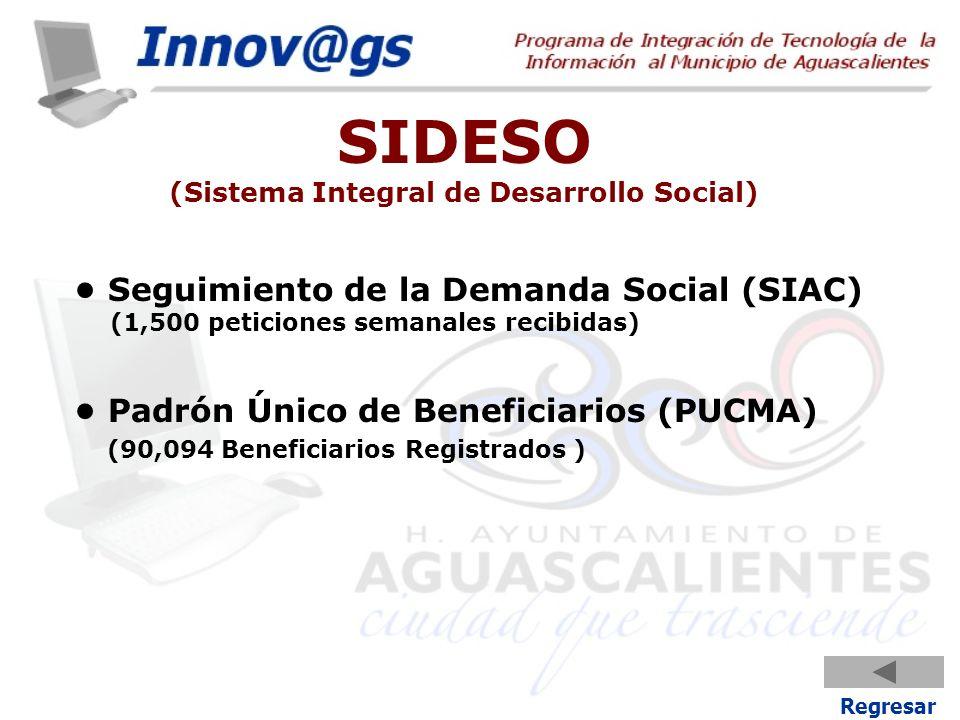 SIDESO (Sistema Integral de Desarrollo Social)
